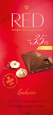 Milk chocolate with nut filling
